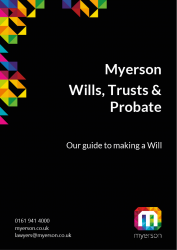 Myerson Guide to Making a Will