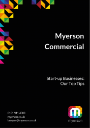 Myerson Guide For Top Tips for Business Start Ups