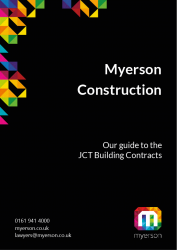 Myerson Guide JCT Contracts