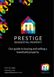 Myerson Prestige Guide to Leasehold Property