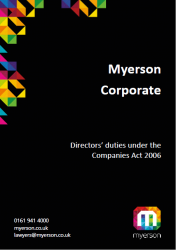 Myerson Corporate Guide to Directors Duties Cover