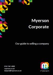 Myerson Corporate Guide to selling a Company Image