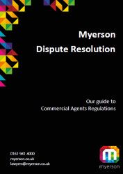 Myerson Guide Dispute Resolution for Commercial Agents Regulations Cover