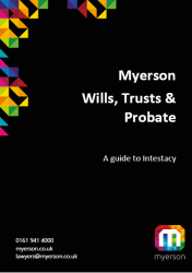 Myerson Wills Trusts and Probate Guide to Intestacy